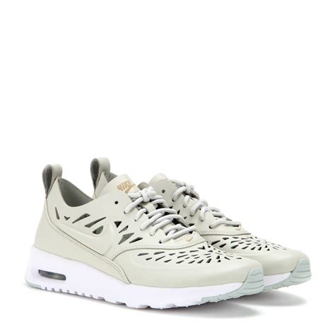 nike thea sneakers nike air max thea leather sneakers in gray lyst