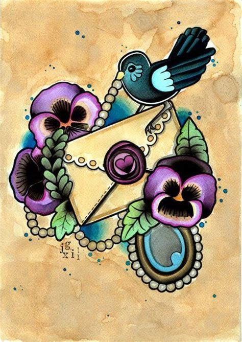 tattoo love flash tattoo flash pansy love letter print pansy tattoo