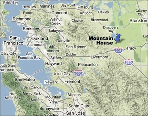 what county is mountain house ca in image gallery mountain house ca map