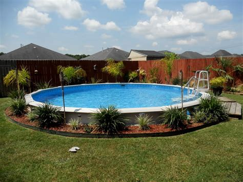 Above Ground Pool Ideas Backyard Backyard Landscaping Ideas With Pool Home Design Ideas