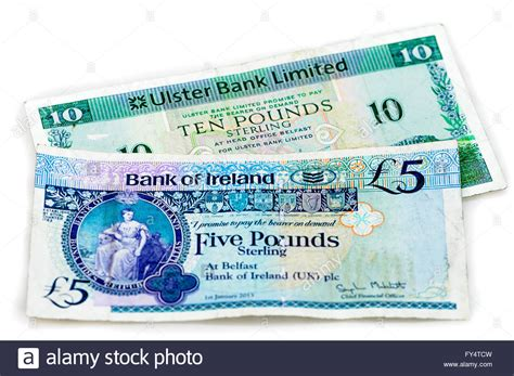bank of ulster ulster bank and bank of ireland bank notes as used in