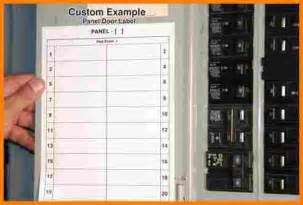 circuit breaker panel labels template breaker box label template pdf
