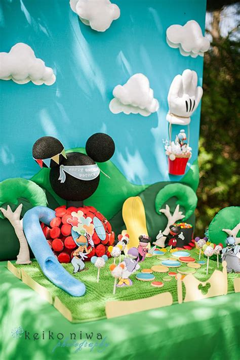 Mickey Mouse Clubhouse 1st Birthday Decorations by Kara S Ideas Mickey Mouse Clubhouse 1st Birthday
