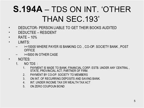 section 194a tds
