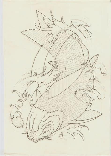 koi tattoo outline best photos of koi fish template free koi fish kite