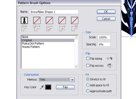 pattern brush options рисуем снежинки 183 171 мир фотошопа 187