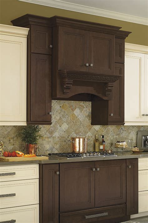 Wood Hood with Celtic Corbel   Omega Cabinetry
