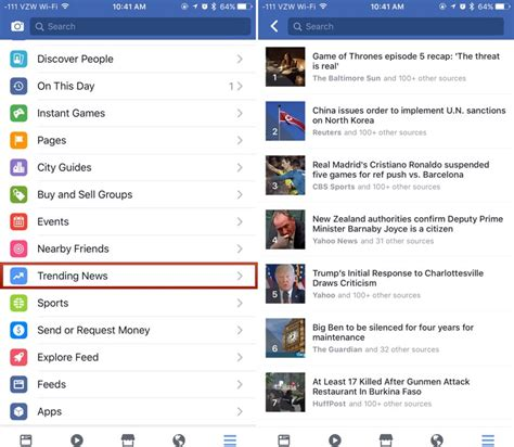 latest news section facebook rolling out new trending news section on mobile