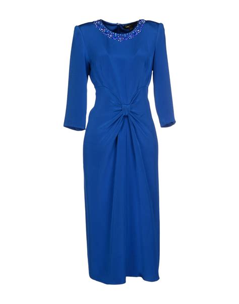 Dress Janny lyst packham ruched silk dress in blue