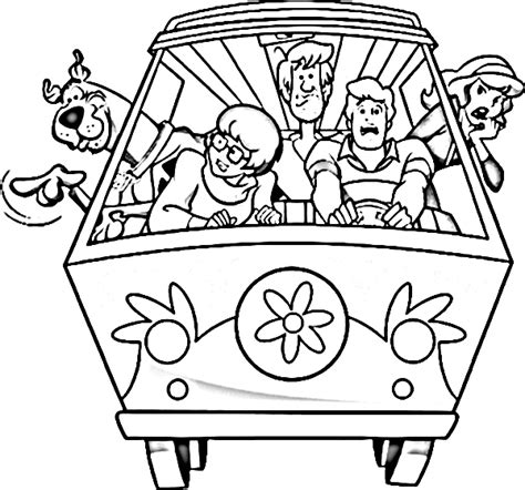 free scooby doo and friends coloring pages scooby