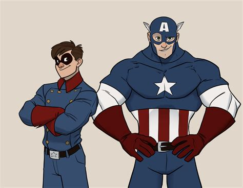 captain america disney animated style art geektyrant