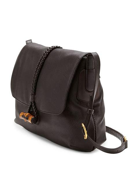 Garucci Shoulder Bag Abu Abu lyst gucci hip bamboo leather flap shoulder bag in brown