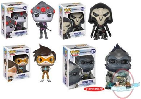 Sprei Dluxe No 1 Pop pop overwatch set of 4 vinyl figure funko of