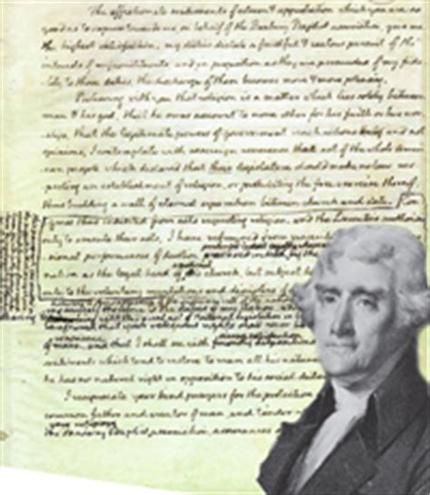 Explanation Of Jefferson S Letter To The Danbury Baptists The American Minute Block Of Cheese And Jefferson S