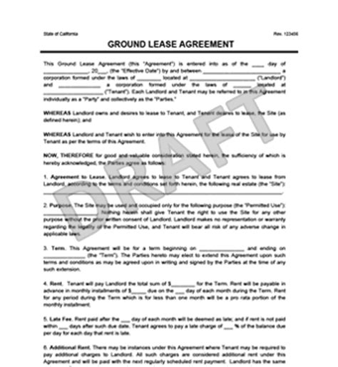 land lease agreement template emsec.info