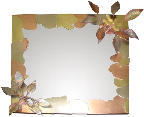 dragonfly mirror frame in copper brass bronze