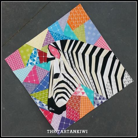 quilt pattern zebra zebra in profile a 20 inch pattern by the tartankiwi