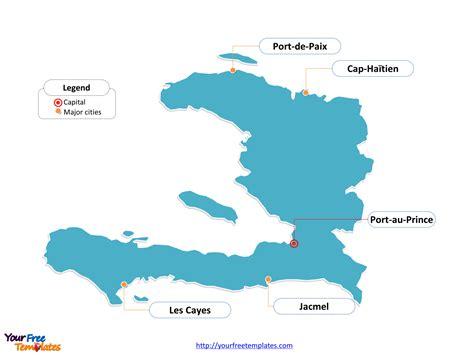 country of haiti map free haiti editable map free powerpoint templates