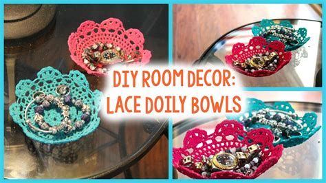 Easy Crafts To Make For Your Room - diy lace doily bowls pinterest inspired easy room decor youtube