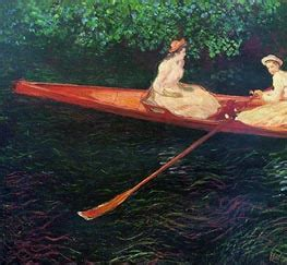 boating on the river epte monet painting reproductions museum quality by topofart