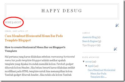 cara membuat menu dropdown horizontal dibawah header blog cara membuat horizontal menu bar template blog arif s blog