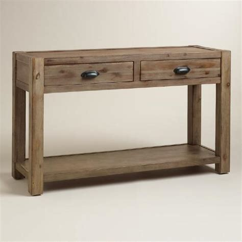 Quade Console Table Wood Quade Console Table World Market