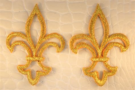 gold applique metallic gold iron on applique appliques 11