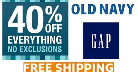 old navy coupons no exclusions coupons and freebies gap and old navy 40 off entire site