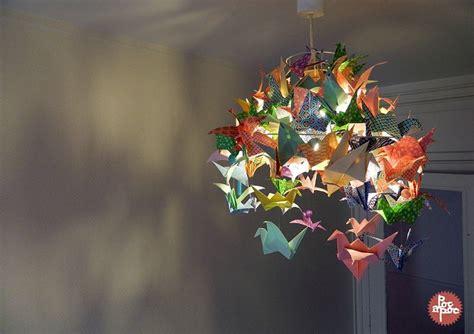 lustre papier japonais lustre origami grue papier japonais poc a poc d 233 coration
