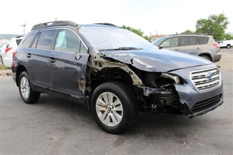 wrecked subaru 2015 subaru outback 2 5i premium repairable salvage