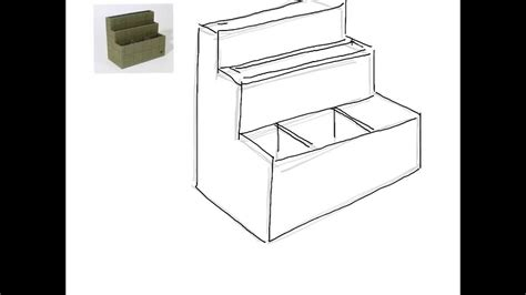 how to a desk desk tidy drawing
