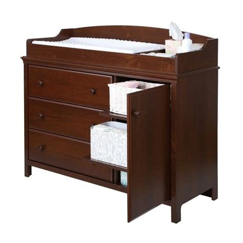 Changing Table Station South Shore Cotton Changing Table With Removable Station In Sumptuous Cherry 3456333