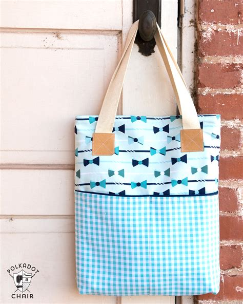 easy tote bag pattern with pockets a new tote bag sewing pattern the polka dot chair