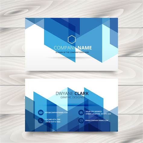 blue business card template free abstract style blue business card template design