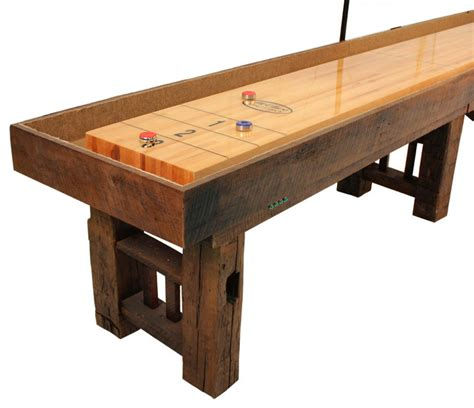 corner angle of the dakota shuffleboard table grand