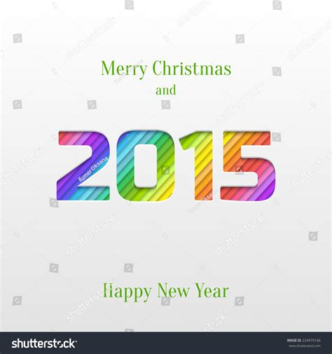 2015 new year greeting card template abstract paper cut 2015 happy new year background trendy