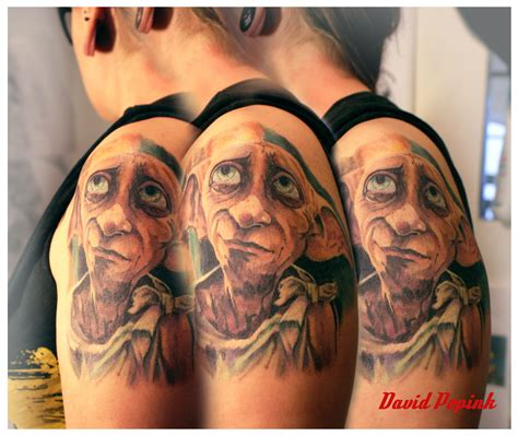 dobby tattoos dobby harry potter tatouage marseille popink vieux