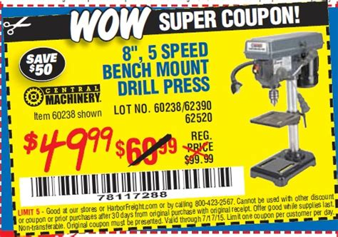bench coupon harbor freight tools coupon database free coupons 25