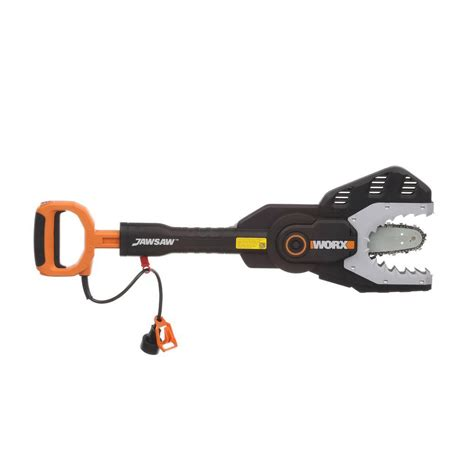 worx 4 in electric jaw chainsaw wg307 the home depot