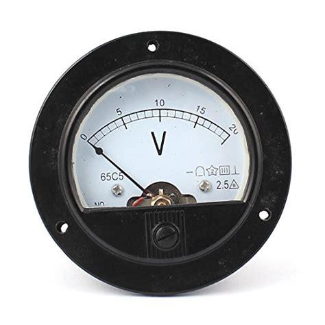 Voltmeter Dc Analog dc 0 20v analogue panel meter volt voltage analog import it all