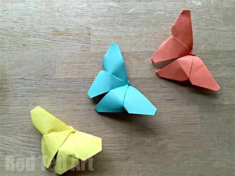 Easy Papercrafts - origami butterflies how to easy paper butterflies for