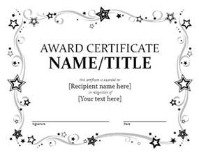 Printable Award Certificate Templates by Award Certificate Template Format Template