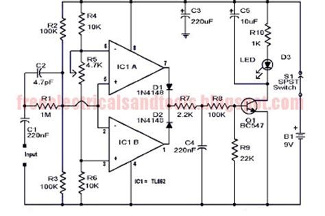 selv circuit diagram diagram ingram audio clipping indicator circuit