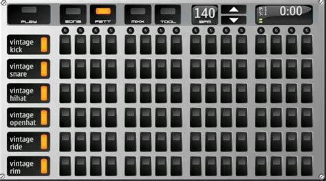 drum pattern sequencer drumbot video drum machine demo for symbian s60 5th drum beat