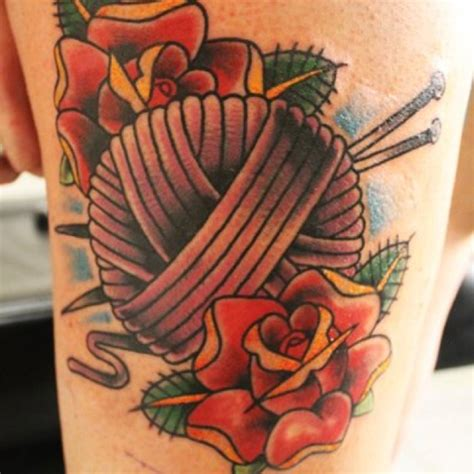 knitting tattoos designs 25 knitting needle tattoos and ideas