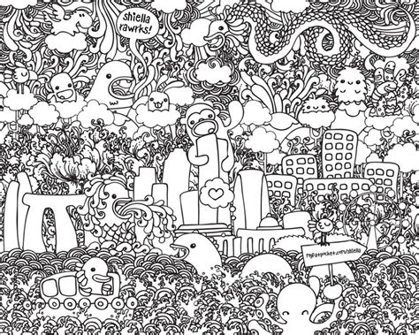 doodle drawings printable get this doodle coloring pages printable 52cf1