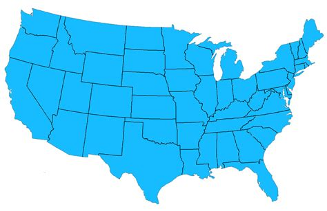 map of continental usa a map of the continental united states a map of the