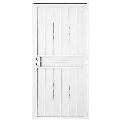 Steel Security Doors Design Ideas Unique Home Designs 30 In X 80 In Cottage White Surface Mount Outswing Steel Security