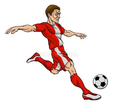 hombre de dibujos animados jugar futbol vector de stock personaje de dibujos animados del jugador de f 250 tbol del