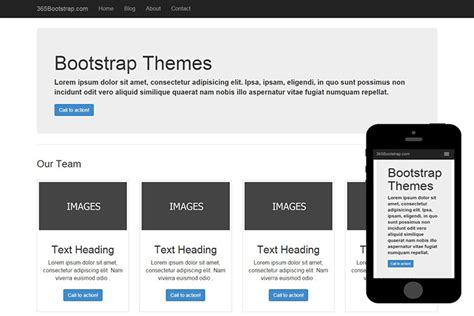 basic templates for bootstrap 006 free basic bootstrap theme 365bootstrap